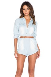 Toby Heart Ginger Gone Riding Romper Chambray