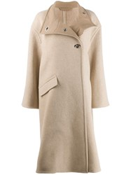 Acne Studios A Line Wrap Coat Neutrals