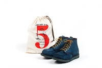 Proud To Present The Hand Dyed Natural Indigo Red Wing Shoes By Tenue De Nimes