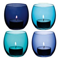 Lsa International Coro Assorted Tealight Holders Set Of 4 Lagoon