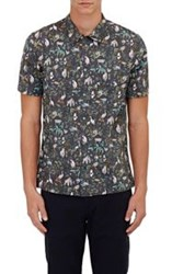Paul Smith Jeans Animal Print Short Sleeve Shirt Colorless