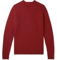 Anderson And Sheppard Shetland Wool Sweater Red