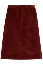 A.P.C. Corduroy Skirt Red