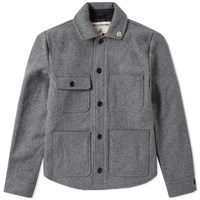 Fidelity Wool 4 Pocket Work Jacket Grey