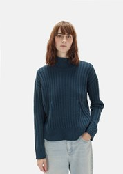 Organic By John Patrick Ribbed Turtleneck Scuba