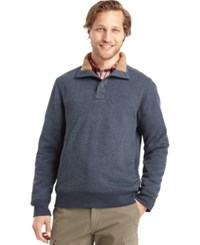 G.H. Bass And Co. Sueded Sherpa Lined Mock Neck Fleece Saffron Sprice Heather