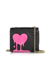 Love Moschino Melting Black And Pink Eco Leather Crossbody Bag