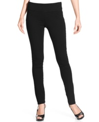 Style And Co. Petite Jeans Skinny Pull On Black Wash