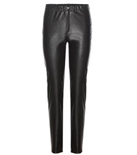 Etoile Isabel Marant Jeffery Faux Leather Trousers Black