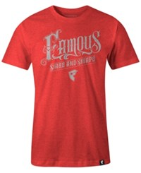 Famous Stars And Straps Men's Graphic Print T Shirt Red Heather