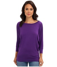Culture Phit Lara Modal Top Eggplant Women's T Shirt Purple