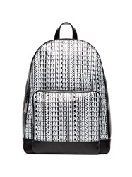 Balmain Logo Leather Backpack Black