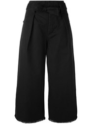 Etoile Isabel Marant Flared Cropped Trousers Black