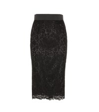 Dolce And Gabbana Lace Skirt Black