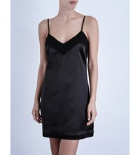 La Perla Silk Essence Short Stretch Silk Nightgown Black