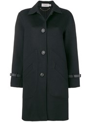 Coach Single Breasted Coat Black
