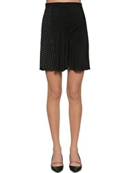 N 21 Studded Crepe Draped Mini Skirt Black