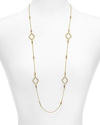 Kate Spade New York Scatter Strand Necklace 36 Cherry Quartz Gold
