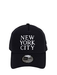 New Era Ne Destination Cotton Trucker Hat Black