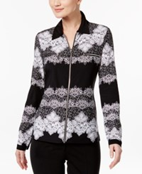 Inc International Concepts Zip Front Lace Shirt Only At Macy's Venetian Lace