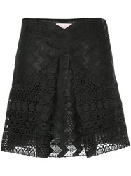 Giamba Inverted Pleat Skirt Black