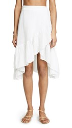 9Seed Capri Mini Wrap Skirt White