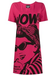 Boutique Moschino Wow T Shirt Dress Pink