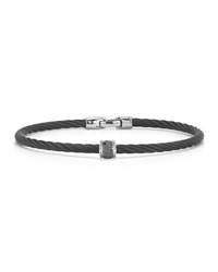 Alor Black Stainless Steel And Diamond Cable Bracelet 0.5Tcw