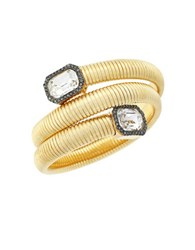 Vince Camuto Holiday Spiral Goldtone Glass Crystal Coil Bracelet
