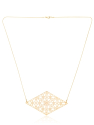 Lotocoho Alhambrs Diamond Shaped Necklace Gold