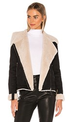 Tularosa Griffin Coat In Black. Black And Beige