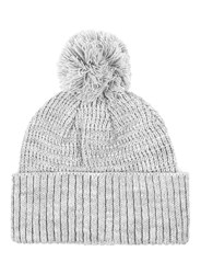 Topman Grey Knitted Bobble Beanie Hat