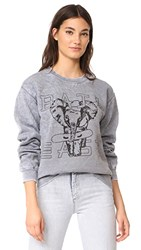 Baja East Elephant Crew Sweatshirt Grey