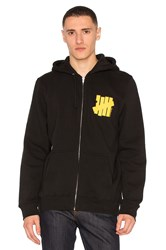 Undefeated Strike Vert Und Zip Up Hoody Black