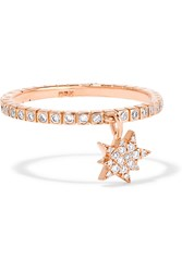 Diane Kordas Explosion 18 Karat Rose Gold Diamond Ring