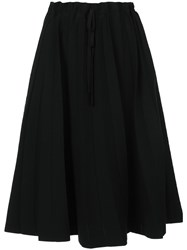 Label Under Construction Paper Bag Waisted Mid Length Skirt Black