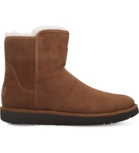 Ugg Abree Mini Suede Ankle Boots Dark Brown