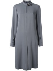 Salvatore Ferragamo Midi Shirt Dress Grey