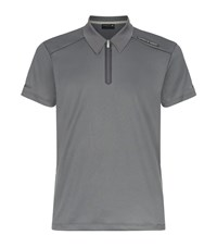 Porsche Design Racing Zip Neck Polo Top Male Dark Grey