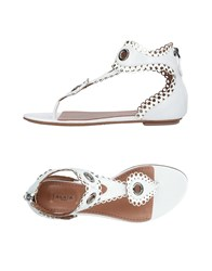 Alaia Toe Strap Sandals White