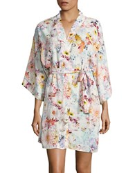 Flora Nikrooz Floral Wrap Robe Natural