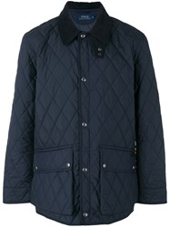 Ralph Lauren Diamond Quilted Jacket Blue