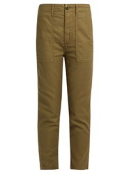 The Great Slouch Armies Cropped Trousers Khaki