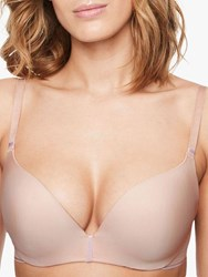 Chantelle Absolute Invisible Push Up Bra Golden Beige