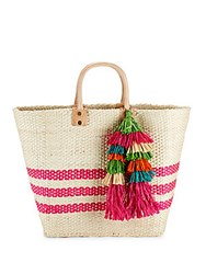Mar Y Sol Trio Fringe Open Top Tote Pink