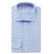 Turnbull And Asser Slim Fit Checked Cotton Shirt Blue
