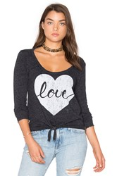 Chaser Heart Love Tee Charcoal