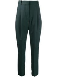 Acne Studios Pleated Tapered Trousers Green