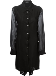 Ann Demeulemeester Blanche Layered Button Up Tunic Black