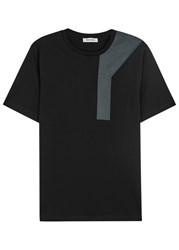 Tim Coppens Black Shell Panelled Cotton T Shirt
